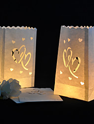 Wedding Décor Heart Cut-out Paper Luminary
