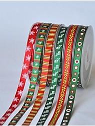 Fita-5 séries de natal impressão em fita de costela 3/8 polegadas quintal cada saco