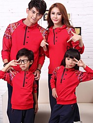 Long Sleeve Polyester Family Clothing Sets , Winter/Fall Clothing Set