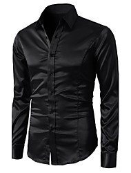 Mens Simple Dress Shirt Slim Fit Modern Look
