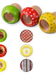 cogumelo de madeira brinquedos para crianças caleidoscópio
