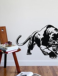 Wall Stickers Wall Decals, leopard Jaguar PVC Wall Stickers