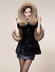 coko&van de vrouwen 2014 nieuwe imitatie nertsen haar en konijnenbont medium lange jas