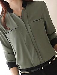 Women's Green/Orange Shirt Long Sleeve