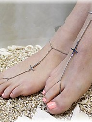 Women's Cross Anklets