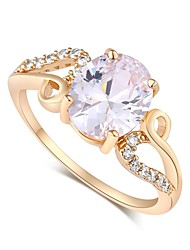 Women's Fashion Exquisite Design 18K Gold Zircon Ring