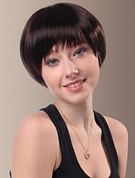 moda con estilo flequillo completo aseados pelucas de pelo corto