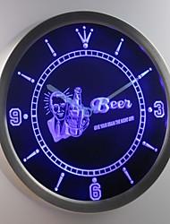 nc0389 Bier geben Sie Ihre Gehirn Nacht aus Bar Leuchtreklame LED-Wand Uhr