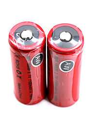 2pcs AW IMR 18500 3.7V 1100mAh High Drain Rechargeable Lithium Batteries Set (4.1WH) Red
