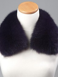unisex viola alla moda reale genuino del collare della pelliccia di volpe avvolgere sciarpa