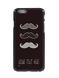 Personalized Case Mustache Design Metal Case for iPhone 6 Plus