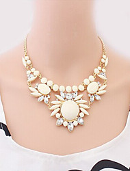 Welly Women's Ethical Style Temperament Gem Necklace