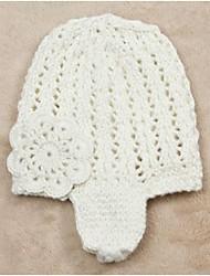 toulejour® Mädchen an der Hand stricken Blumenohrabdeckung Hut