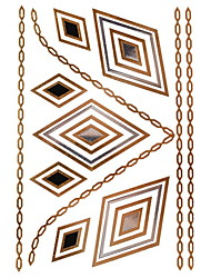 1Pcs Diamond Jewelry Inspired Metallic Gold and Silver Tattoo Stickers Temporary Tattoos