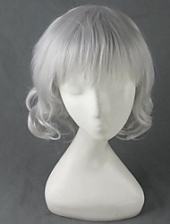 Cosplay Wigs Hunter X Hunter Cosplay White Short Anime Cosplay Wigs 40 CM Heat Resistant Fiber Male