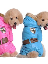 Coats for Dogs Blue / Pink Winter S / M / L / XL / XXL Cotton / Terylene