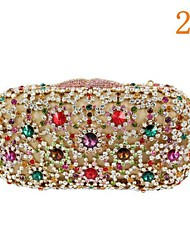 Women's Heart Design Rhinestone Evening Bridal Purse