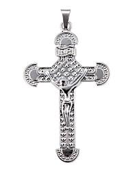 Exquisite High Quality Shining Silver Big Jesus Pendant(1 Piece)
