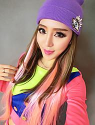 hip-hop bailarina gradiente de color larga fiesta de halloween peluca los 60cm de las mujeres