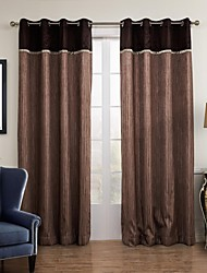 Two Panels Curtain Designer , Solid Living Room Poly / Cotton Blend Material Sheer Curtains Shades Home Decoration For Window