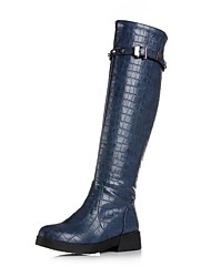Women's Shoes  Fashion  Low Heel  Over The Knee Boots with Buckle More Colors available