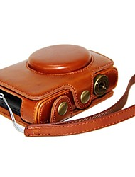 Dengpin® Leather Protective Camera Case Bag Cover Charging Style with Hand Strap for Leica C and Panasonic LF1