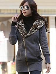 patrón de leopardo ocasional Xier outwear coreano