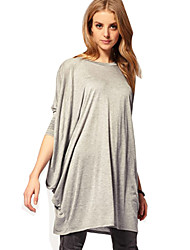 Women's Round Neck Loose Fit Batwing Sleeve Dress