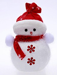 Christmas Decorations Hang Ornaments Embrace Snowman(H=22cm,Button color random)