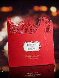 Hochzeits-Einladungen Seitlich gefaltet Einladungskarten Personalisiert