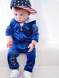 Boys Blue Hot Stamping Leisure Suit
