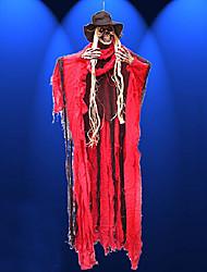 Halloween délicat rouge linge à commande vocale&fantôme suspendu plastique