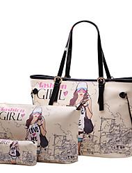 Paris Fashion bloemenprint tas ingesteld yc193 (kleurenscherm)