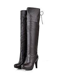 Women's Shoes  Fashion Boots  Stiletto Heel Over The Knee Boots with Lace-up More Colors available