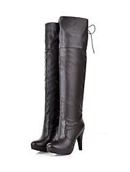 botas de los zapatos de moda de las mujeres del tacón de aguja sobre las botas de la rodilla con cordones más colores disponibles