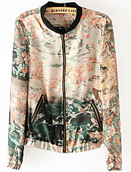 Women's Coats & Jackets , Chiffon Casual Zeagoo