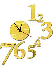 """30 """"h style moderne nouvelle acrylique simple numéro miroir mural d'horloge"""