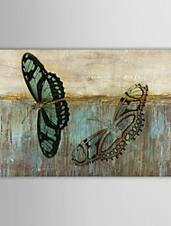 Hand Painted Oil Painting Animal  Butterflies Flying Among Fields with Stretched Frame