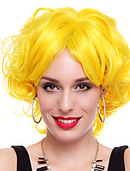 Energic Girl Yellow Synthetic Fiber 30cm Women's Halloween Party Wig