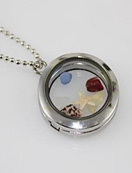DIY Glass Phase Box of Sea World Necklace Sweater Chain Necklace 30 mm