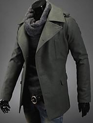 ocasional all-jogo casaco de tweed dos homens