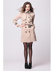 yimilan® deux costumes pour le nouveau qiu dong vent britannique tenue femmes le trench à double boutonnage mode