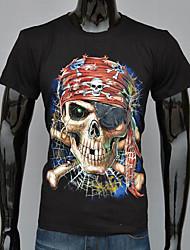 T-Shirts ( Algodão / Poliéster ) MEN - Casual / Trabalho Redondo - Manga Curta
