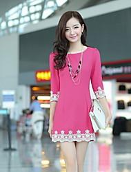 Rundhals Spitze koreanischen Stil Kleid emma Frauen
