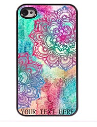 Personalized Gift Elegant Flower Design Metal Case for iPhone 4/4S