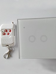 Intelligent 1 Gang Home Touch Wall Switch Crystal Glass Panel Design SW-02