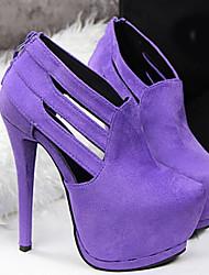 Beauty Girl Women's Fashion Wedding High Heel Platform Shoes (Purple)