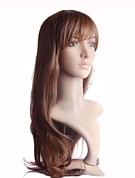 Capless Long Brown High Quality Synthetic Straight Sexy Wig Heat Resistant Fiber