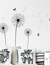 ZOOYOO® fashion removable vinyl materail black dandelion wall sticker home decor Decal Art Mural Home Decor
