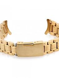 Unisex's Steel Watch Band Strap 17MMx20MMx3MM (Golden)